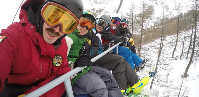 snowboard e bambini